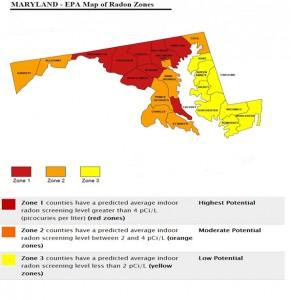 maryland epa map-of radon