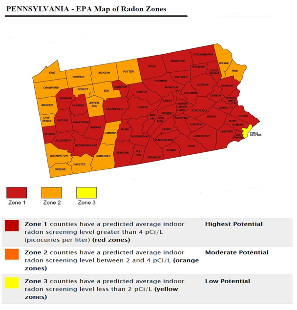 Radon Mitigation Services In Baltimore Maryland - Us epa radon map zone 3